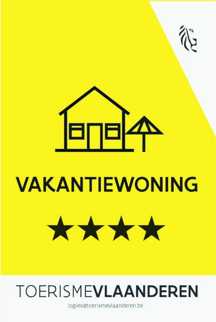 Vakantiewoning erkenningsschild: 4 sterren
